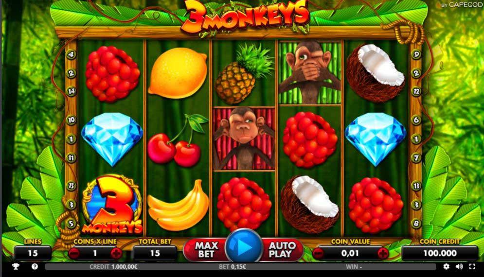 3 monkeys slot online