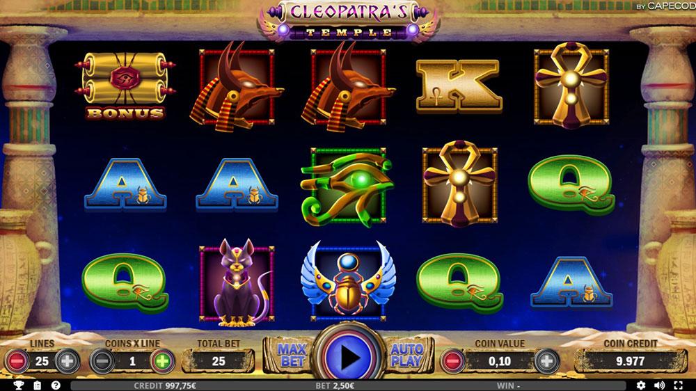 slot cleopatra's temple