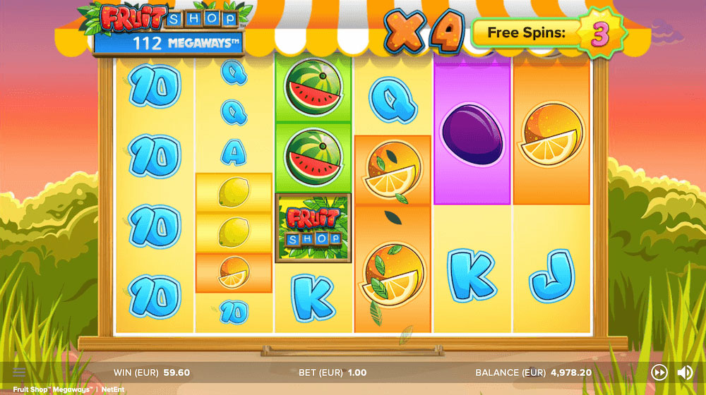 fruit shop slot megaways