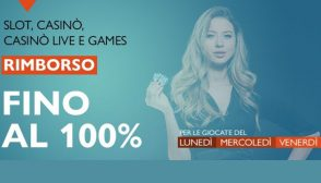 """100% di rimborso dell'importo """"giocato-vincite"""" con Betflag"""