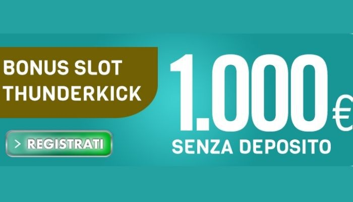 Bonus slot Thunderkick fino a 1000 € con Betflag